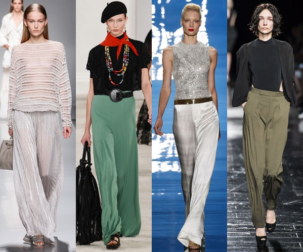 Женские брюки 2013: легкие и струящиеся модели