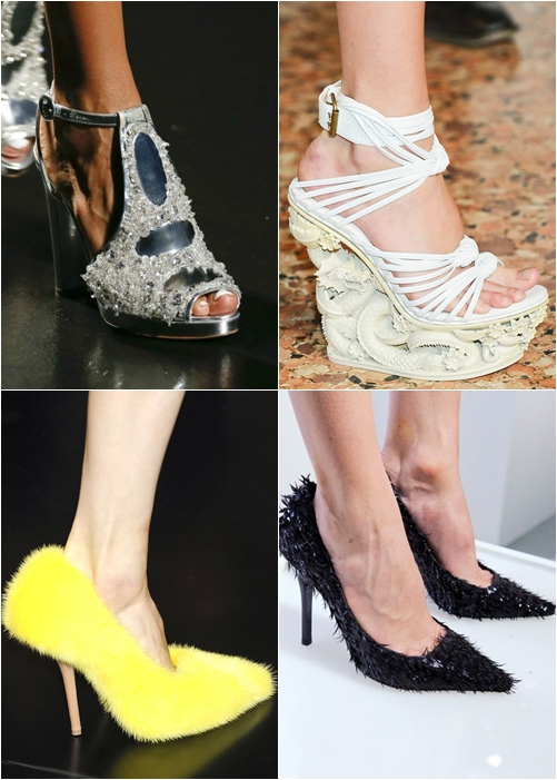 обувь весна-лето 2013 обувь перья стразы камни