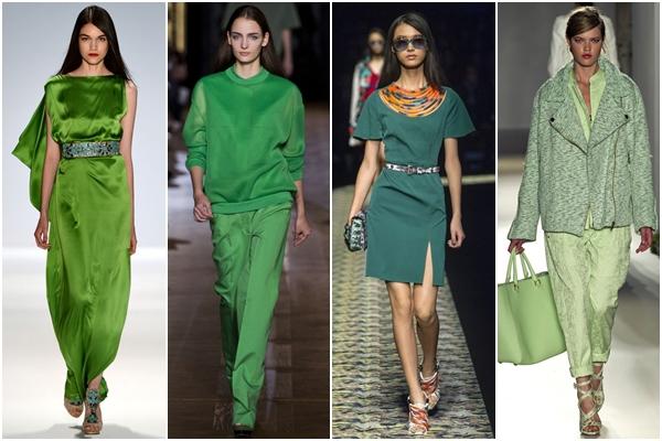модные цвета 2013 зеленый