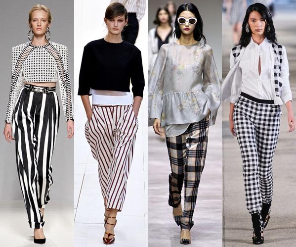 Женские брюки 2013: полосатые и клетчатые