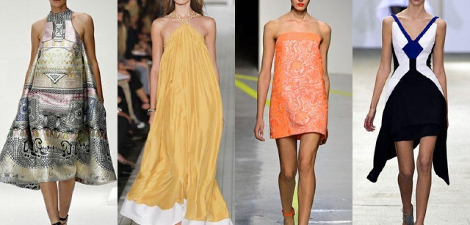Стильные платья 2013: экспериментальные весна и лето