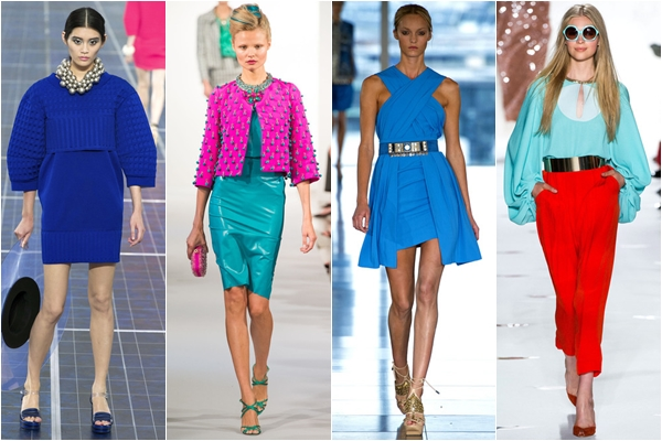 цвета 2013 color blocking и синий