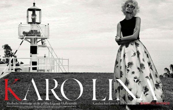Каролина Куркова для Vogue Germany в фотосессии апрель 2013