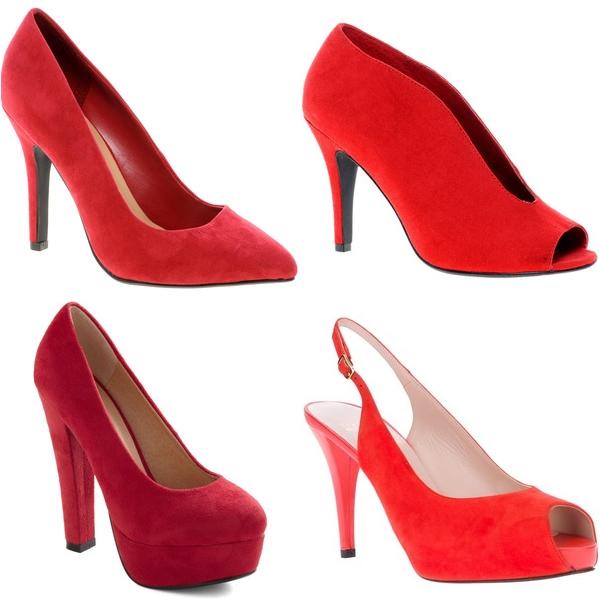 красные туфли 2013 бархатные