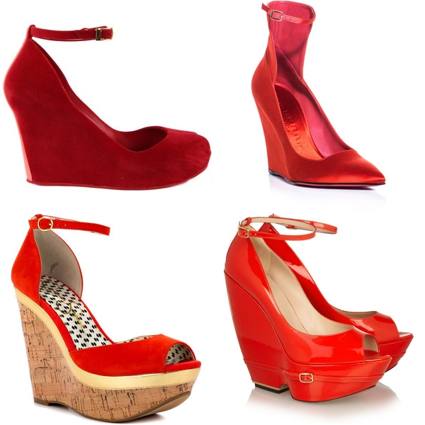 красные туфли 2013 на танкетке