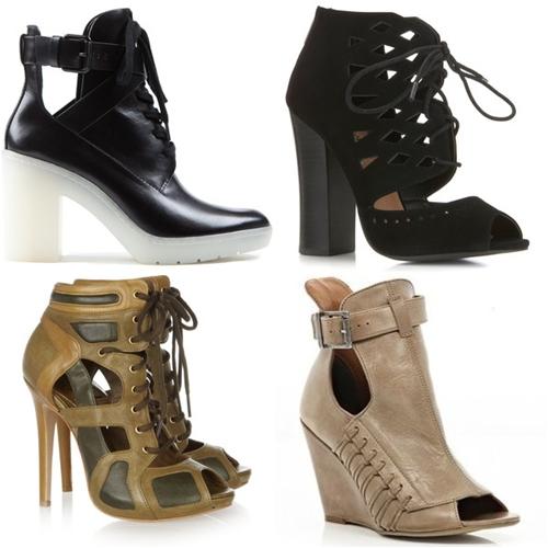 сапожки и ботинки с прорезями 2013