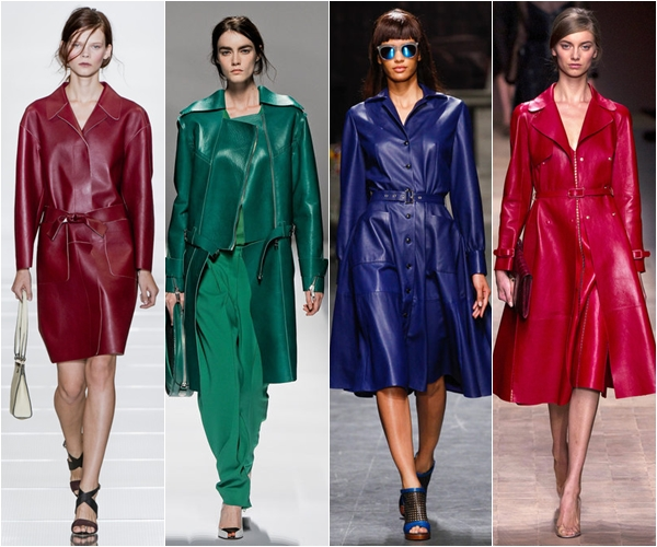 кожаные пальто и плащи 2013