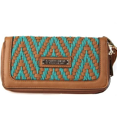 сумка kardashian kollection 2013 бирюзовый кошелек бумажник на молнии
