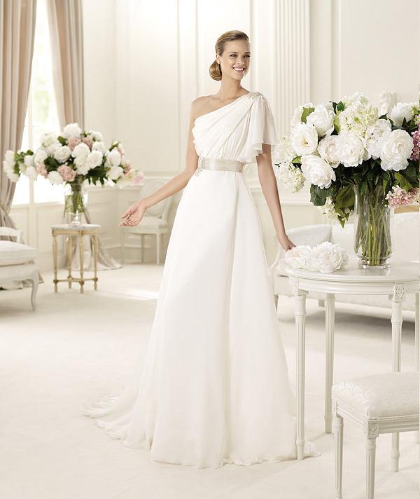 свадебные платья с одним плечом 2013  manuel mota