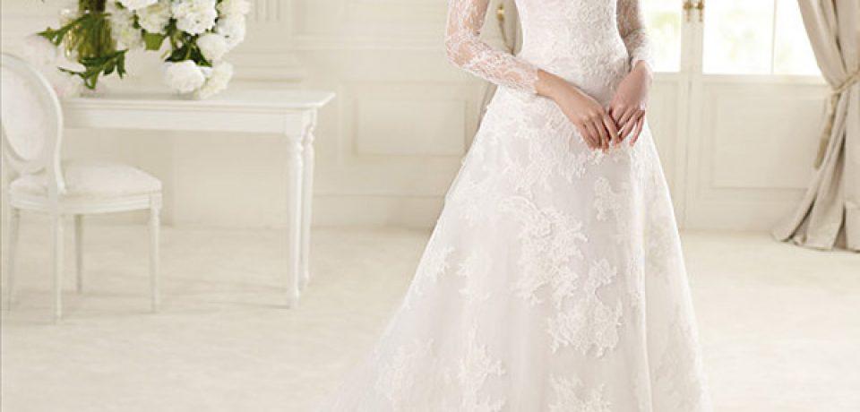 Кружевные свадебные платья 2013