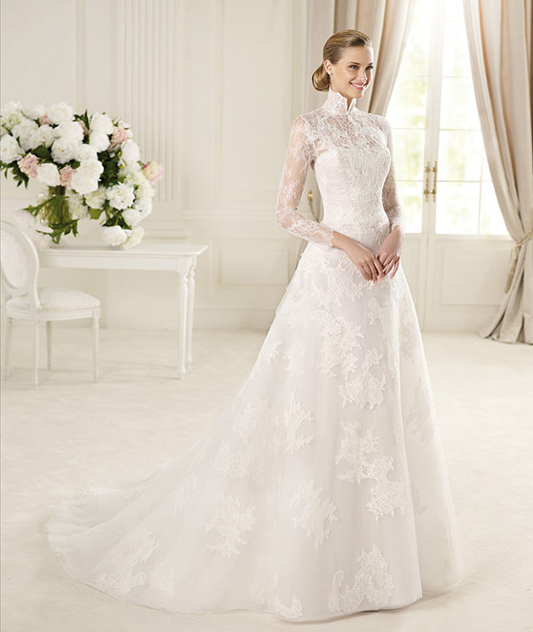свадебное платье manuel mota 2013 с длинным рукавом