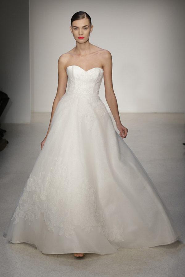 свадебные платья бюстье 2013 amsale