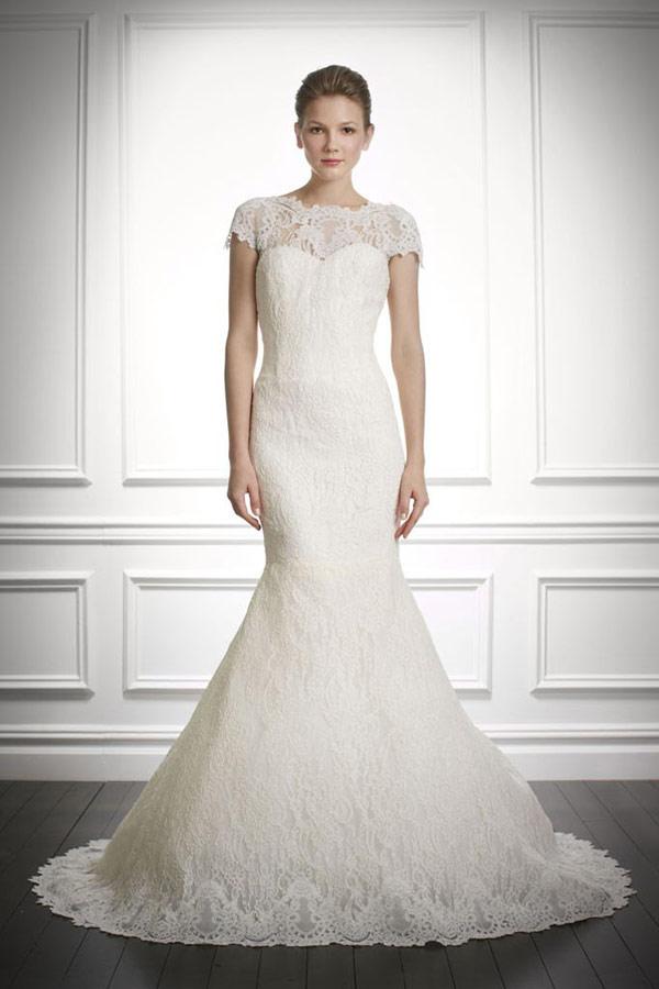 кружевные свадебные платья 2013 Carolina Herrera