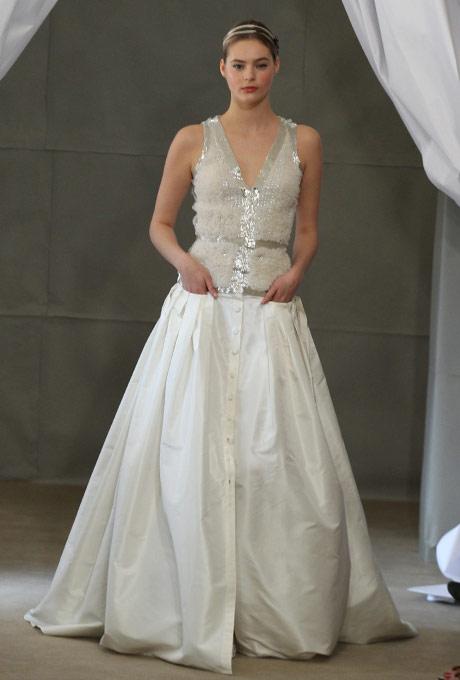Свадебные платья в греческом стиле 2013  carolina herrera