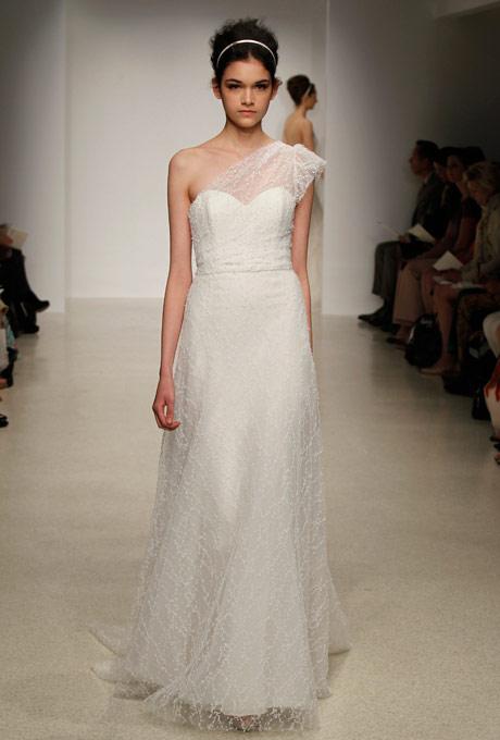 свадебные платья с одним плечом 2013  cristos