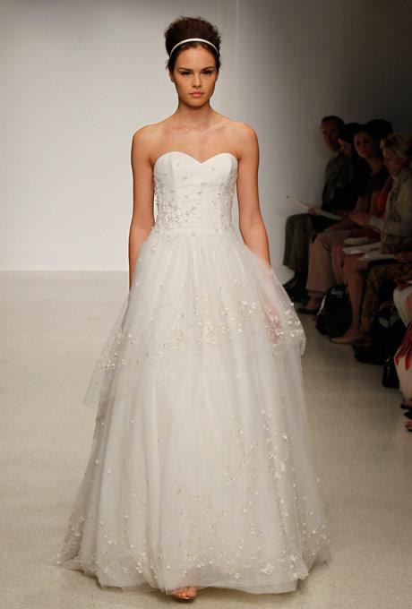 свадебное платье бюстье с тюлем сhristos 2013