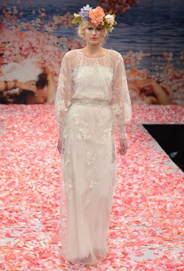 свадебное платья с длинным рукавом claire pettibone стиль ретро