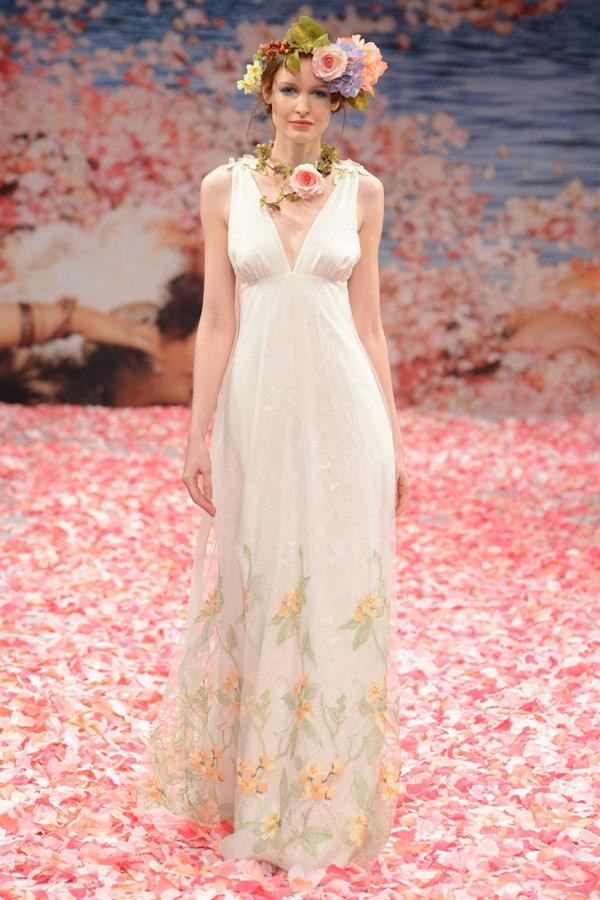Свадебные платья в греческом стиле 2013  claire pettibone