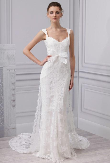 свадебное платье claire pettibone с кружевом и поясом бантом