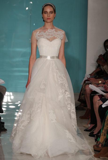 кружевное свадебное платье reem acra 2013