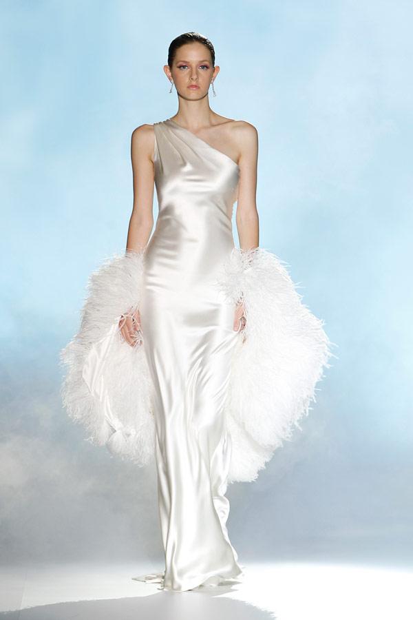 свадебные платья с одним плечом 2013  ретро rosa clara