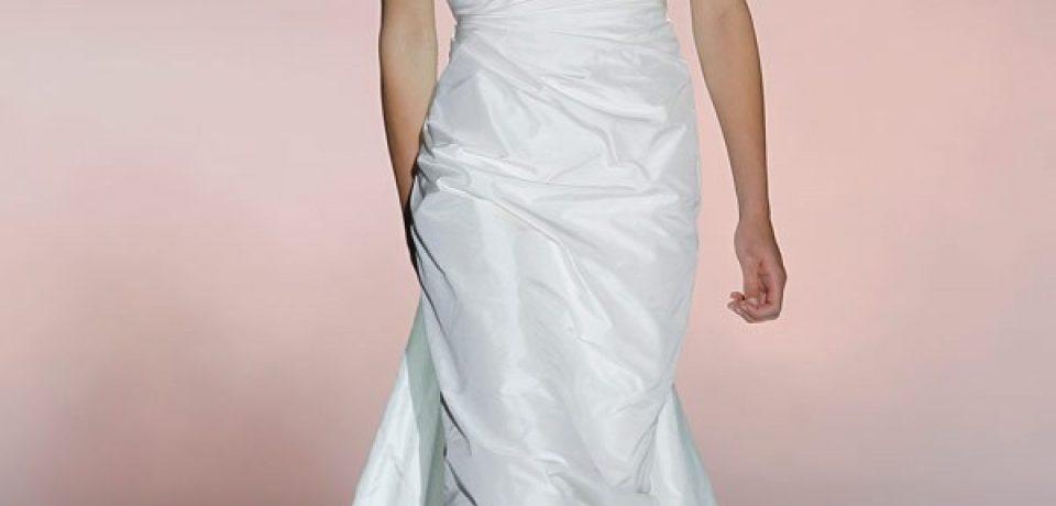 Асимметричные свадебные платья с одним плечом 2013