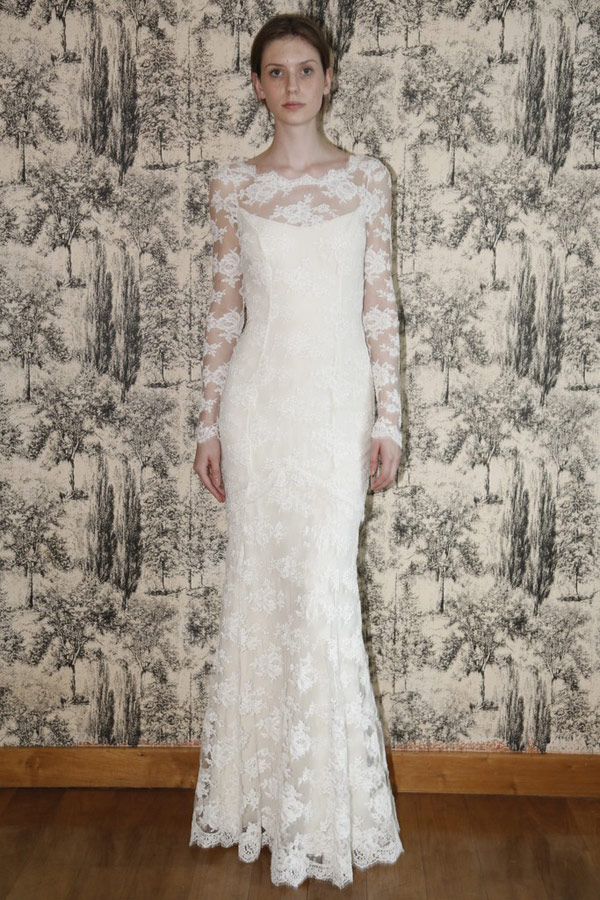 свадебное платье с длинным рукавом temperley london 2013