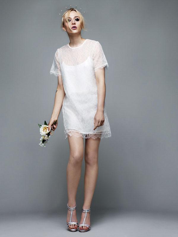 Простое демократичное свадебное платье Topshop