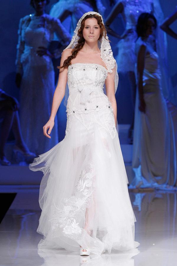 свадебное платье бюстье yolan cris