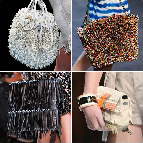 модные женские сумки весна-лето 2013 - фактура, бахрома