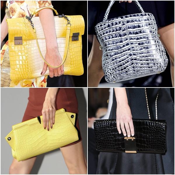 модные женские сумки весна-лето 2013 крокодиловая кожа