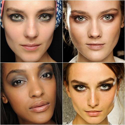 макияж глаз весна-лето 2013 smoky eyes