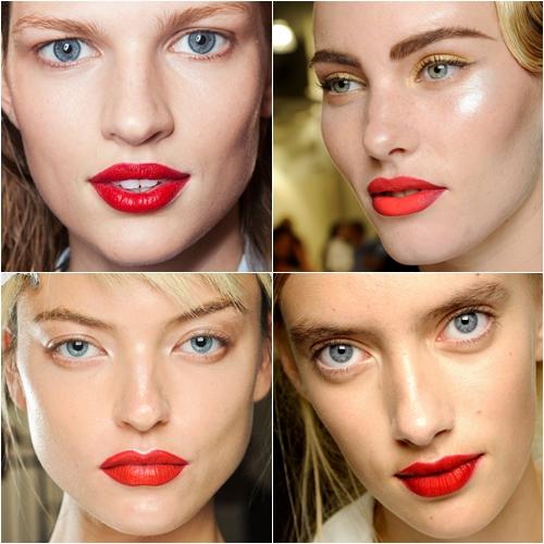 макияж весна лето 2013 красная помада