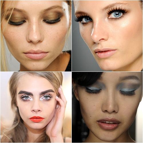 модный макияж весна лето 2013 искусственные накладные ресницы