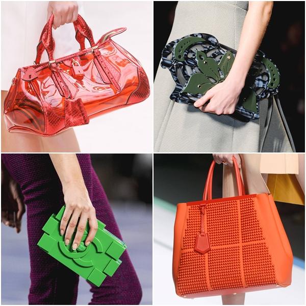 модные женские сумки весна-лето 2013 - пластиковые