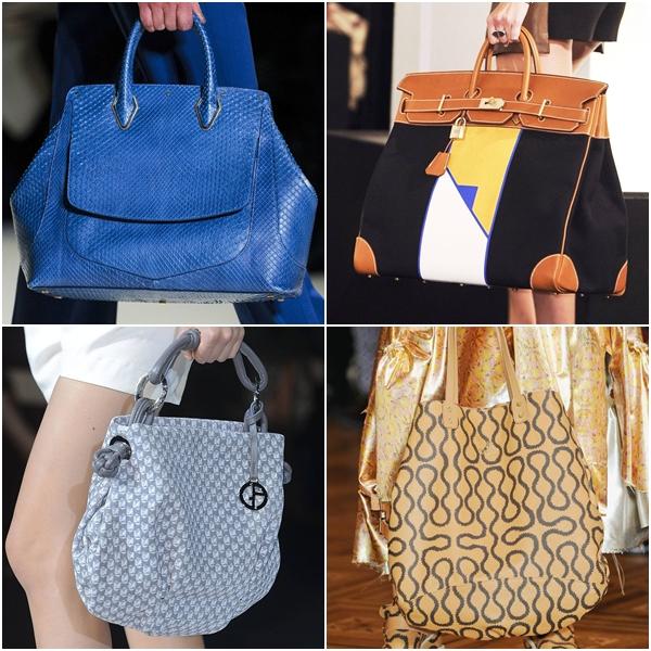 модные женские сумки весна-лето 2013 - объемные вмесительные