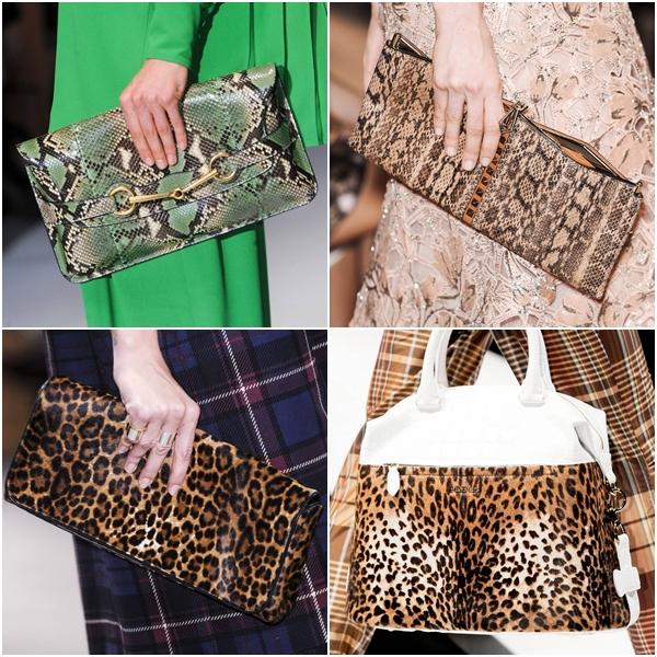 модные женские умки весна-лето 2013 змеиный и леопардовый принт