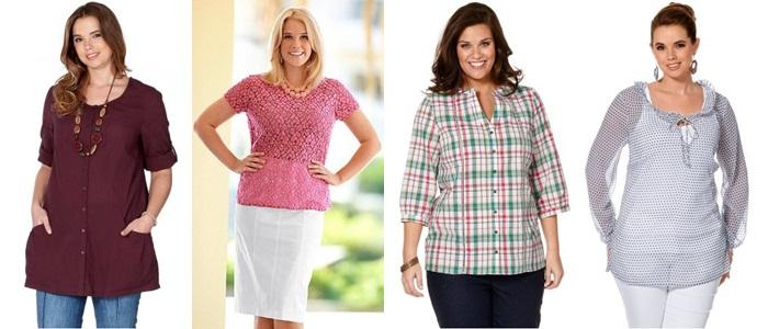 купить туники рубашки и блузки для полных 2013 в интернет-магазине недорого