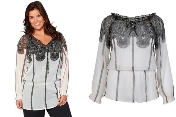 купить белую блузку для полных в интернет-магазине