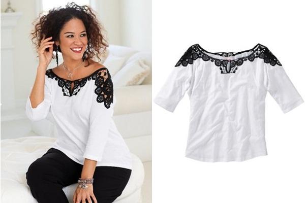 белая кружевная блузка для полных купить в интернет-магазине