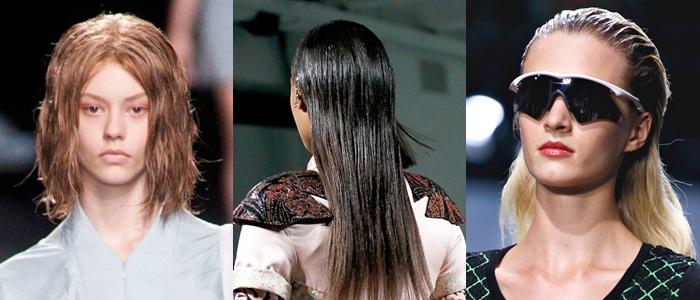 Модные прически лето 2013 эффект мокрых волос