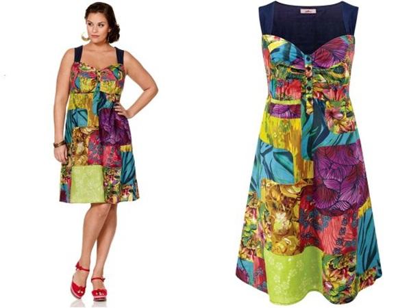 платье в стиле ретро для полных сарафан