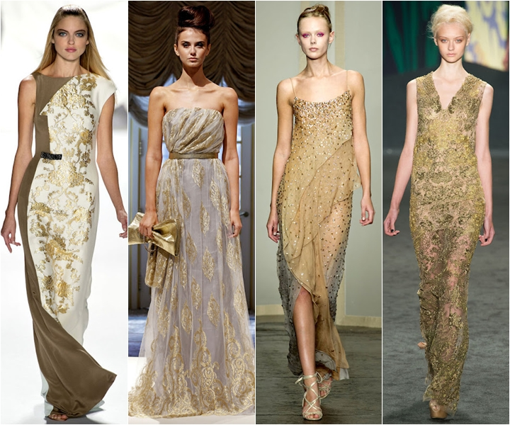вечерние платья 2013 золотые
