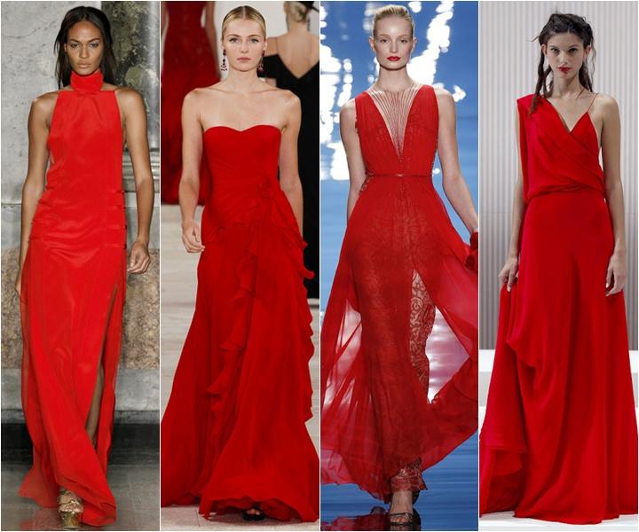 красные вечерние платья лето 2013