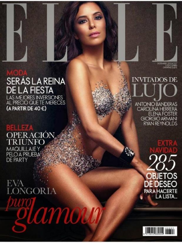 Ева Лонгория Elle декабрь, обложка, фотосессия_1