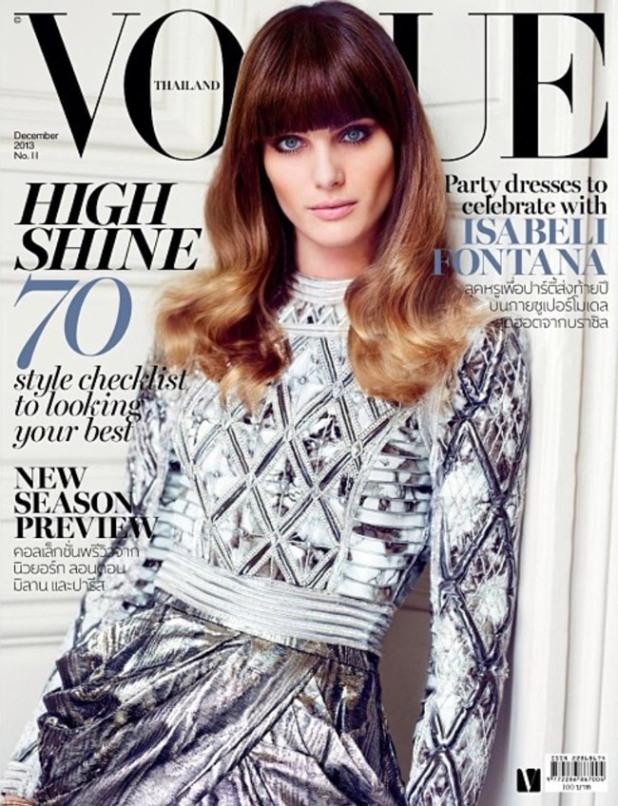 Изабели Фонтана на обложке Vogue Thailand (декабрь 2013)