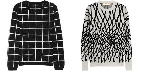 черно-белые свитера chinti and parker и marni