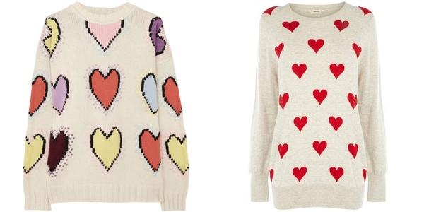 свитера с сердечками joseph и oasis