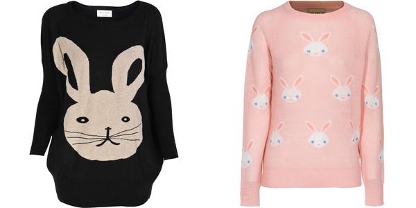свитера с зайцами miss jolie и wildfox