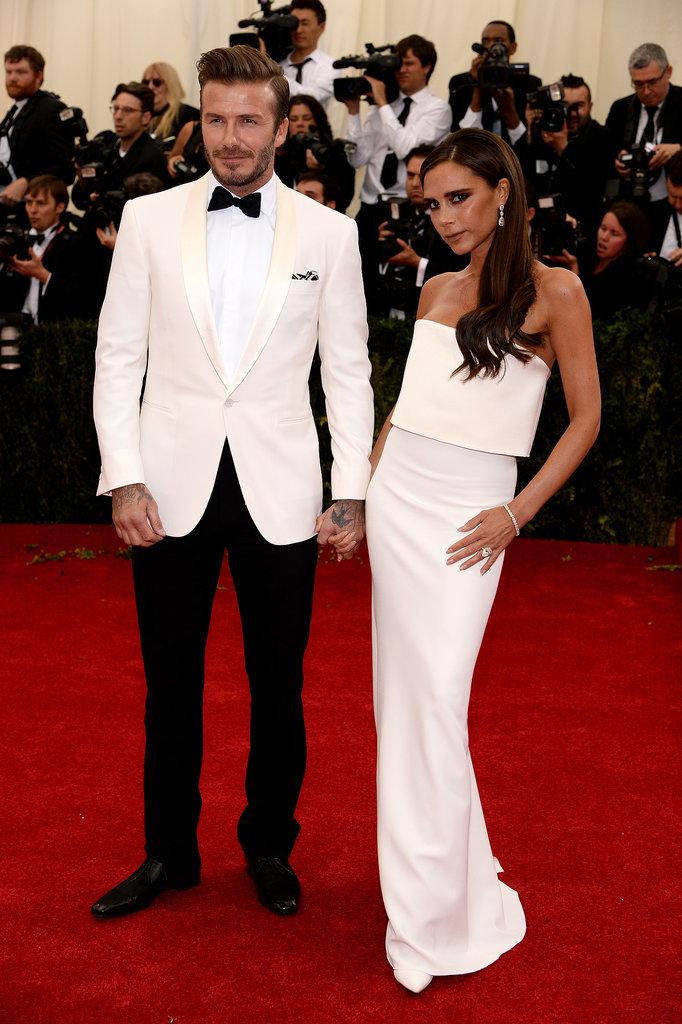 Дэвид и Виктория Бэкхем на Met Gala 2014
